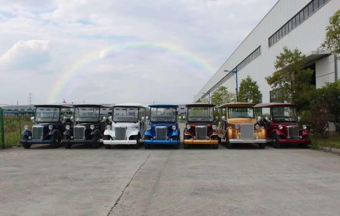 钱柜777娱乐_广西景区订购一批湖南大丰和厂家的七彩旅游观光车