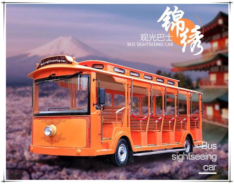 新款旅游观光车湖南厂家直销14座叮当车景区旅游观光电瓶车