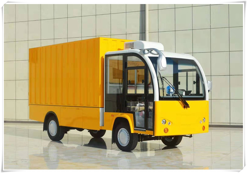 四轮电动送餐车厂家直销箱式电动货运车学校保温送餐车价格
